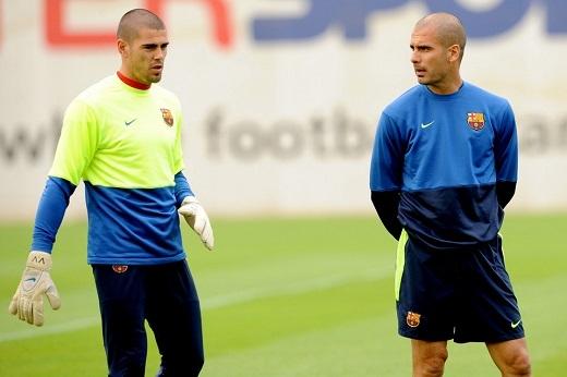 Pep Guardiola cùng Valdes sẽ lại tái hợp với nhau ở Man City?