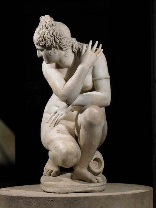 Bức tượng nữ thần Aphrodite đang tắm.