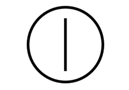 Biểu tượng này kết hợp 2 biểu tượng Ivà O, có nghĩa vừa tắt vừa mở. Đó chính là lý do người ta dùng biểu tượng này cho các nút nguồn.
