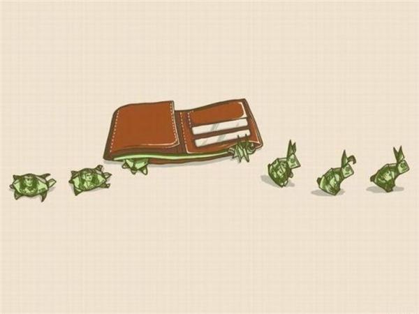 Số tiền tiêu đi bao giờ cũng tỉlệ nghịch với số tiền kiếm được.