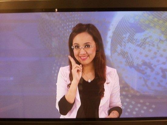 Bạn sẽ không bao giờ thấy được hình ảnh này của chị Hoài Anh trên thời sự VTV đâu.