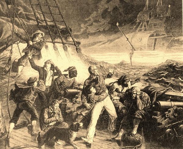 Nhiều nhân chứng cho rằng mình đã nhìn thấy hồn ma của thuyền trưởng cùng với con tàu này. (Ảnh: Internet)