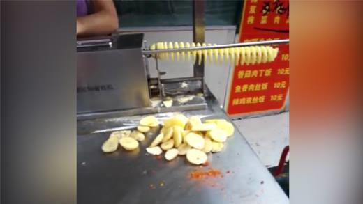 Cận cảnh món khoai tây lốc xoáy khiến triệu người