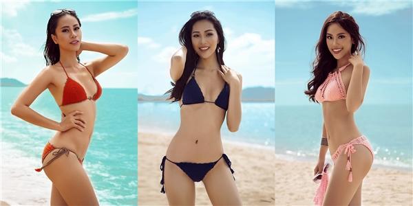 Từ trái qua: Yến Nhi, Diệu Ngọc, Phương Linh