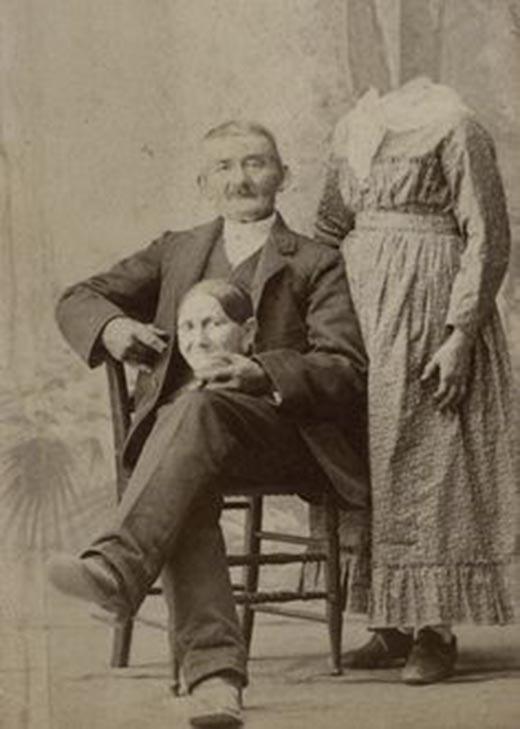 """Rejlander đã sử dụng các kỹ thuật chụp ảnh để tạo ra những bức ảnh chân dung """"người không đầu"""". (Ảnh: Internet)"""