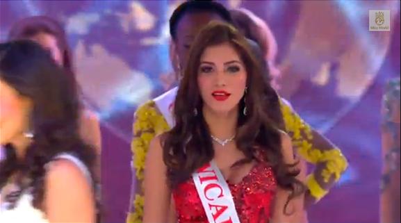 Yumara trong đêm chung kết Miss World 2014.
