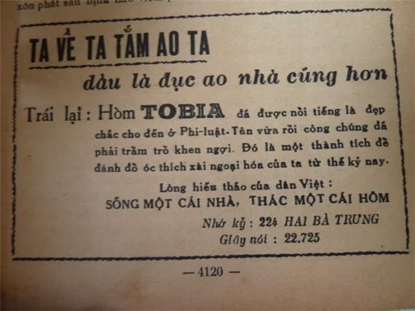 """Quảng cáo hòm Tobia được đánh giá rất cao trong lĩnh vực quảng cáo giai đoạn này. Không chỉ đánh vào danh tiếng xuyên biên giới mà còn có thể kêu gọi """"người Việt ưu tiên dùng hàng Việt"""", quảng cáo hòm Tobia trở nên vô cùng nổi tiếng."""