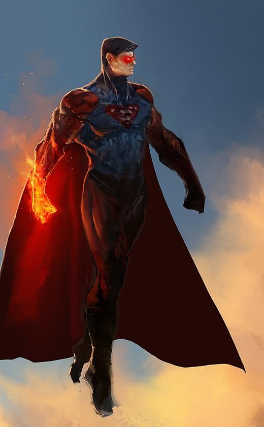 Tuy vậy không thể phủ nhận tạo hình này của Siêu nhân sẽ làm kẻ thù run sợ ngay khi nhìn thấy. (Ảnh: cobaltplasma)
