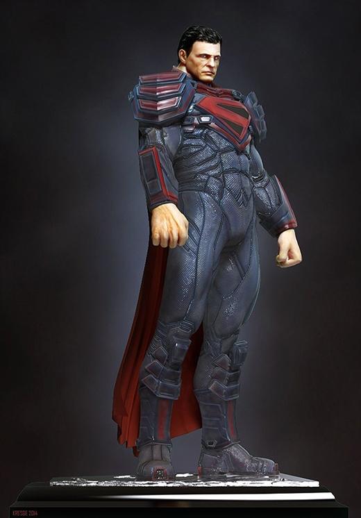 Trang phục không có gì khácso với căn bản, nhưng chiếc quần sịp đỏ kinh điển đã được giấu vào trong. (Ảnh: Matt Kresge)