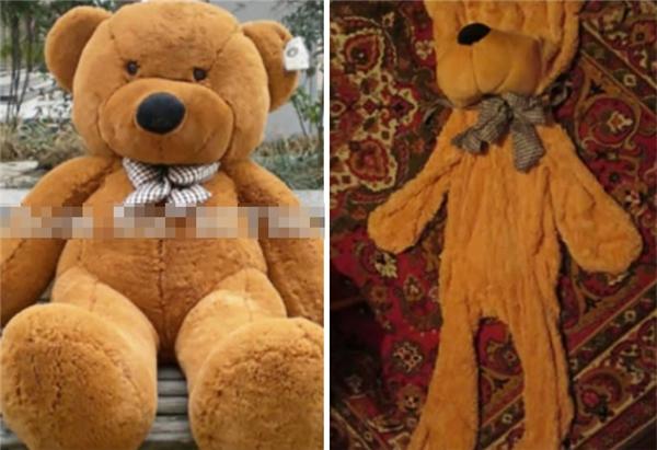 Có lẽ nên báo ngay cho trung tâm cứu trợ động vật về em gấu bông bị bạc đãi và bỏ đói này.