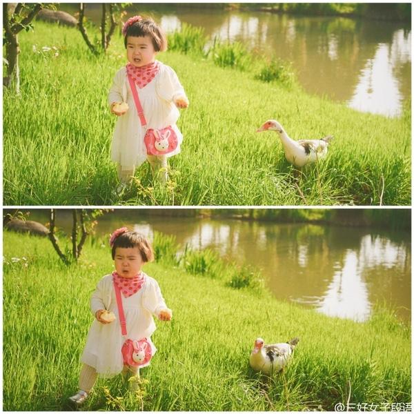 Nhìn Tiểu Manmếu máo mà ai cũng phải mỉm cười, thích thú trước sự đáng yêu và hồn nhiên của cô bé.(Ảnh : Internet)