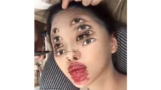 Chóng mặt với màn make up
