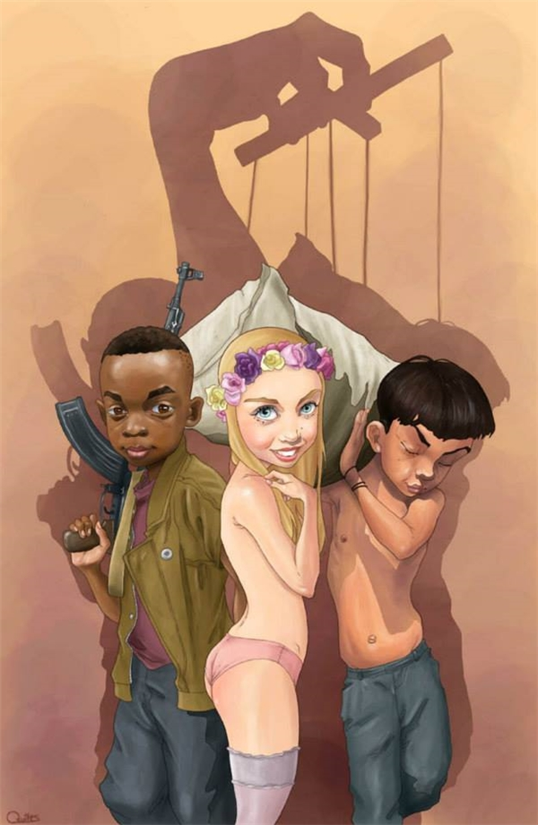 Những đứa trẻ phải cầm những khẩu súng to hơn cả chúng, những đứa bé gái phải đẹp đúng chuẩn của xã hội và những cậu bé trai phải sớm lao lực đều chỉ là những con rối dưới bàn tay điều khiển của đồng tiền và quyền lực mà thôi.