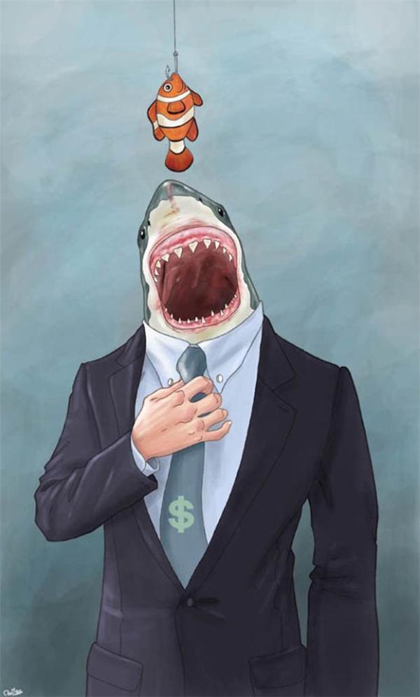 """Người xưa nói: """"Cá lớn nuốt cá bé"""" quả thật chẳng sai một chữ nào."""