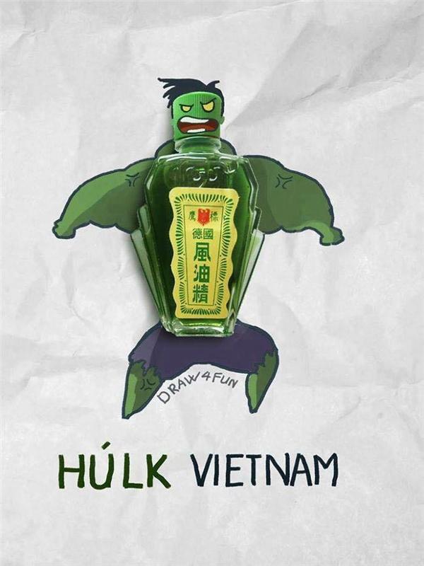 Nhờ có dầu gió xanh mà người khổng lồ Hulk bất khả chiến bại?(Ảnh: Nguyễn Quang Huy)