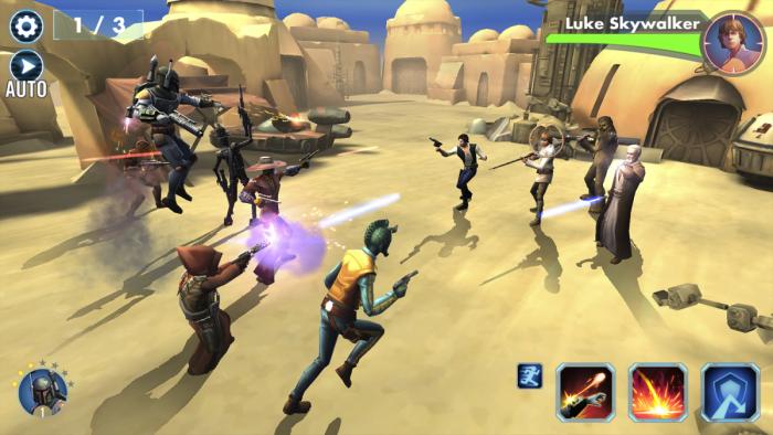 Bạn sẽ không bị giới hạn và được phép chọn bất kì nhân vật nào trong Star Wars để lập đội. (Ảnh: Internet)