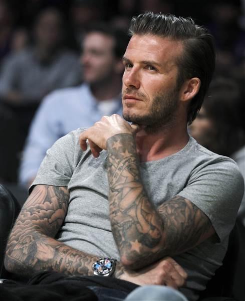 David Beckham sở hữu rất nhiều hình xăm trên cơ thể.