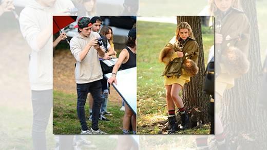 Người yêu Brooklyn Beckham quyết tâm ôm chặt bạn trai trên phố