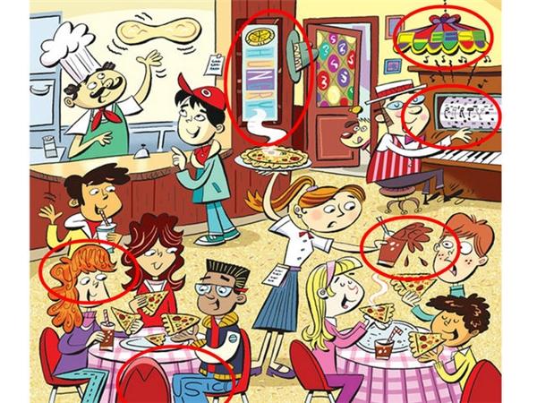 3. Hungry (đói bụng), Cheese (phô mai), Party (bữa tiệc), Yummy (ngon ngon), Music (âm nhạc), Red (màu đỏ). (Ảnh Internet)