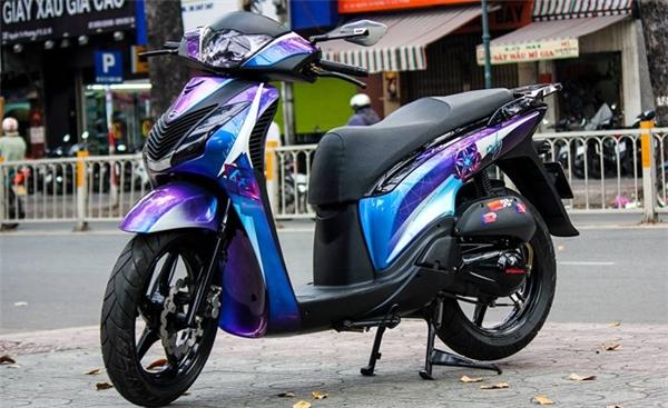 Chiếc Honda SH 2010 nguyên bản màu xanh, thuộc sở hữu của một biker ở Long Xuyên, An Giang.(Ảnh: internet)