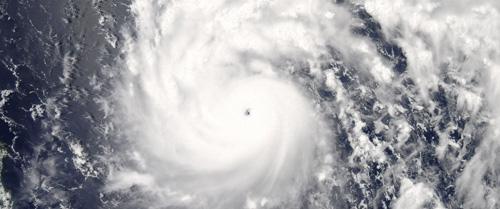 Siêu bão Nepartak chụp từ vệ tinh.