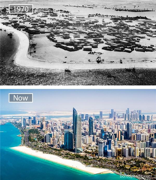 """Được đánh giálà """"kì phùng địch thủ"""" của """"đại gia"""" Dubai, thủ đô Abu Dhabi những năm gần đây đã có thể sánh ngang với New York và Paris về sức mạnh thị trường, cũng như là nơi tập trung của những gì xa hoa nhất của thế giới.(Ảnh: Bored Panda)"""