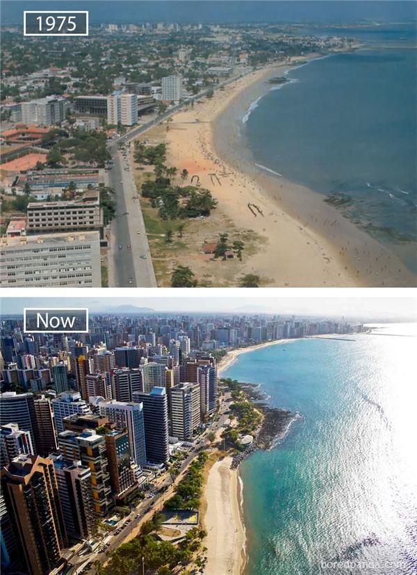 Vẫn đó bờ biển xanh ngọc ngà, nhưng nay, phần đất liền đã được lấp đầy bởi những tòa nhà cao tầng và không giấu được vẻ hiện đại,thành phố Fortaleza quả xứng danhlà một trong ba đầu tàu phát triển của vùng Đông Bắc Brazil.(Ảnh: Bored Panda)