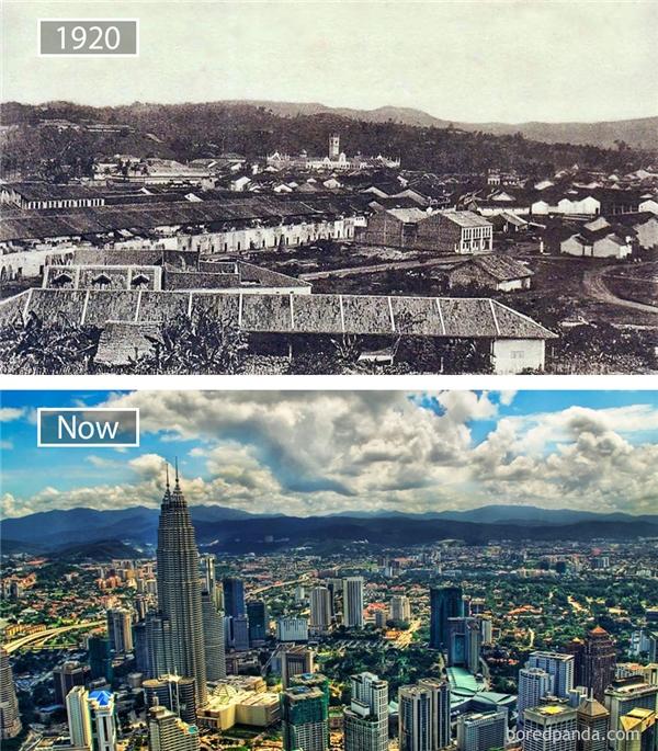 Từng là thuộc địa của Anh trong vòng 100 năm, sau khi chính thức độc lập vào năm 1957, Kuala Lumpur dần phát triển, chuyển mình thành trung tâm tài chính, bảo hiểm, truyền thông, nghệ thuật không chỉ của Malaysia mà trong cả khu vực Đông Nam Á. (Ảnh: Bored Panda)