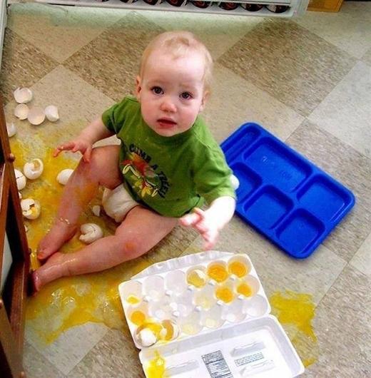 Ờ thì chỉ là trứng vỡ thôi mà!