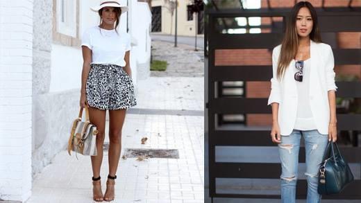 9 công thức phối áo thun trắng vừa đơn giản lại cực