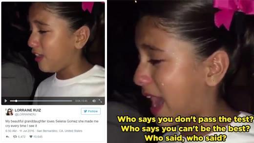 Bé gái vừa khóc vừa hát theo Selena Gomez gây xúc động