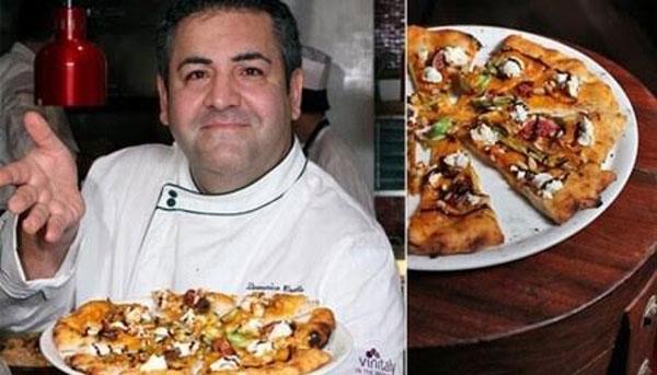 Chiếc Pizza đắt nhất thế giới mang tên Pizza Royale 007 do đầu bếp Dominico Crolla chính ta chế tạo. Nhân bánh bao gồm một con tôm hùm ướp rượu cô-nhắc, trứng cá muối ngâm sâm panh, nước sốt cà chua, cá hồi hun khói, chân giò xông khói, thịt nai, giấm thơm và đặc biệt nhất chính là những mảnh vàng 24 karat ăn được. Chiếc bánh được bán đấu giá trên trang mua sắm trực tuyến và đạt kỉ lục 4.200 USD (93 triệu VND).