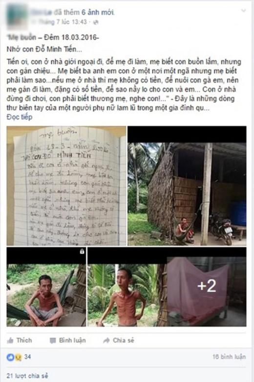 Lá thư đầy lỗi chính tả của mẹ lấy đi nước mắt của hàng nghìn người