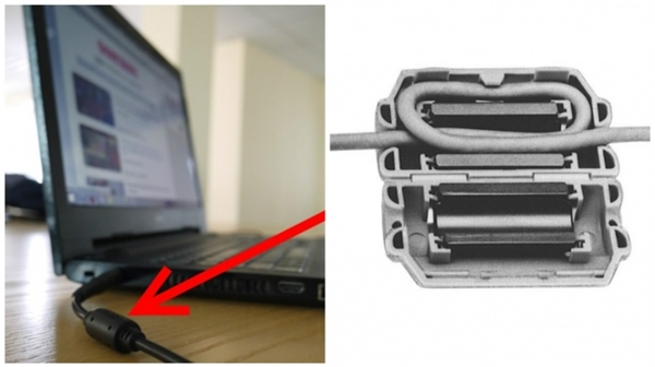 Bạn có bao giờ thắc mắc tại sao trên sợi dây cap laptop lại có cục này?