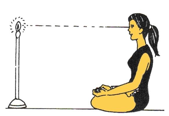 Phương pháp Trataka của người Ấn giúp cho mắt tăng khả năng tập trung.