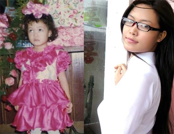 Trong bức ảnh khi còn là cô bé lon ton, Hoa hậu Việt Nam 2008đã biết ăn mặc điệu đà. - Tin sao Viet - Tin tuc sao Viet - Scandal sao Viet - Tin tuc cua Sao - Tin cua Sao