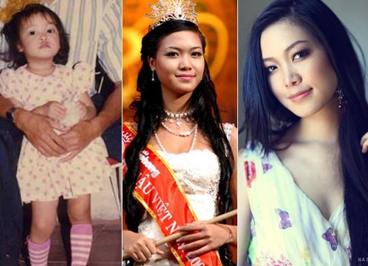 Là con gái út trong gia đình có 4 anh chị em nên lúc bé, Hoa hậu Thuỳ Dung đã được chiều chuộng. - Tin sao Viet - Tin tuc sao Viet - Scandal sao Viet - Tin tuc cua Sao - Tin cua Sao