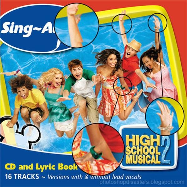 High School Musical 2 (2007): Có lẽ nhân viên photophop vẫn còn đang học trung học.