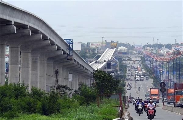 Khu đô thịQ2 dọc tuyến Metromọc lên rất nhiều công trình mới. (Ảnh: internet)
