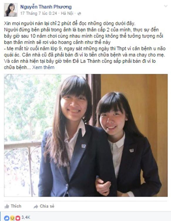 Hoàn cảnh của nữ sinh trường Báo khiến cộng đồng mạng xót xa