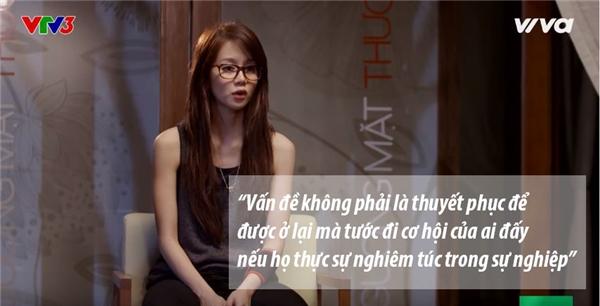 Cô thực sự nghiêm túc khi muốn giành cơ hội ở lại cho Mai Ngô. Điều này khiến khán giả cảm thấy vô cùng cảm kích.