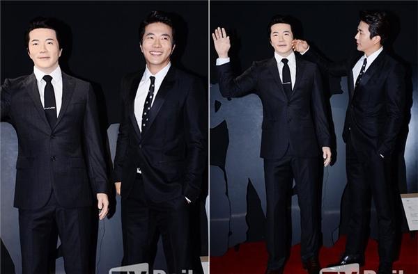 Dù khá giống nhưng tượng sáp của tài tử Kwon Sang Woo bị mất điểm vì gương mặt trắng bệch như người mắc bệnh bạch tạng.