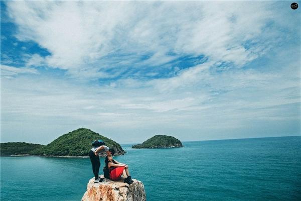 Bộ hình cưới được cả hai cùng ê-kíp thực hiện tại đảoNam Du. (Ảnh: Kim Ơi)