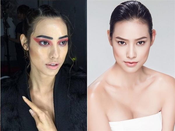 Son nude và bàu mắt hồng ấn tượng khiến khán giả khó có thểnhận ra Lilly Nguyễn.