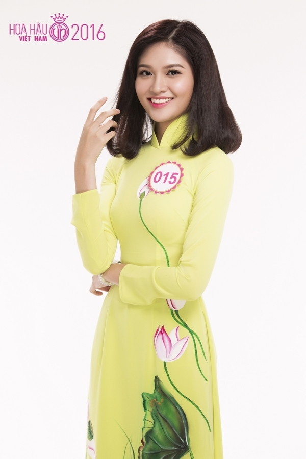 Huỳnh Thị Thùy Dung (SBD 015) vừa đăng quang cuộc thi Hoa khôi Sinh viên Đại học Ngoại thương TP. HCM vào tháng 5 vừa qua. Cô sở hữu chiều cao 1m71, gương mặt sáng và thần thái cuốn hút mỗi khi trình diễn trên sân khấu.