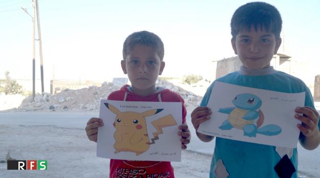 Lời kêu cứu của trẻ em Syria.(Ảnh: RFS)