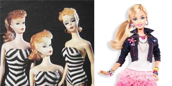 Búp bê barbie đời đầu có vẻ già dặn hơn so với con cháu bây giờ nhỉ!