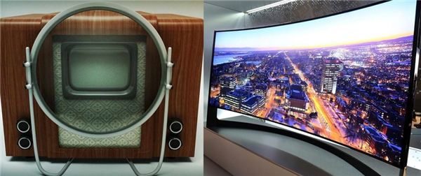 Đã có một sự cải tiến ngoạn mục về độ rộng màn hình và độ dàycủa ti vi.