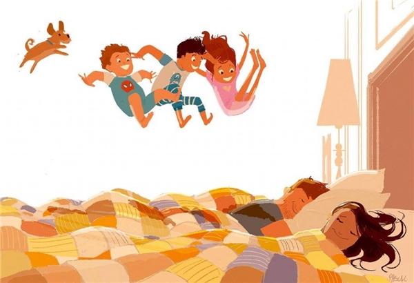 """Thói quen """"phá bĩnh"""" của bọn trẻ vào buổi sáng sẽ khiến bạn luôn cảm thấy một buổi bình minh đầy năng lượng."""