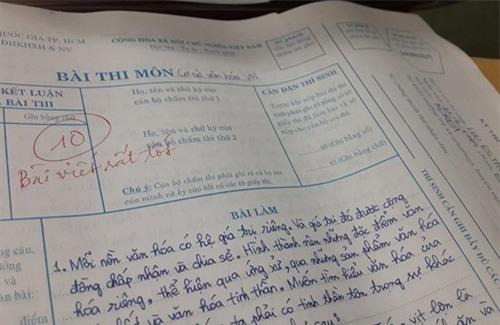 Một bài thi đạt điểm tuyệt đối của Hari Won thời đại học. - Tin sao Viet - Tin tuc sao Viet - Scandal sao Viet - Tin tuc cua Sao - Tin cua Sao